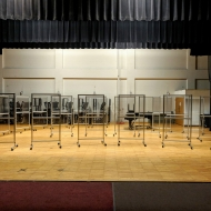 SG-1000 Social Distancing Barriers in a University Auditorium