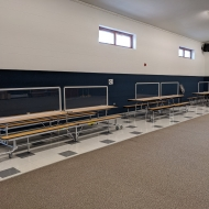 Sneeze Guards in an Elementary School Cafeteria