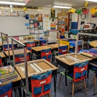 Social Distancing Barriers in an Elementary School Classroom