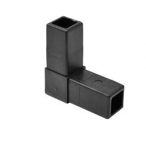 "200-300-HF 2-Way Black ""L"" Connector, Hammer Fit"