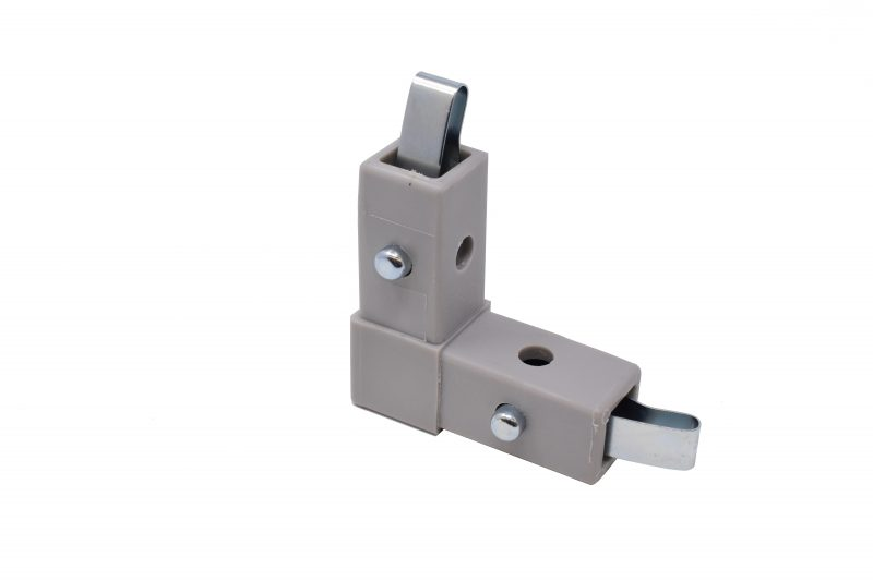 "200-301-QR 2-Way Gray ""L"" Connector, Quick-Release"
