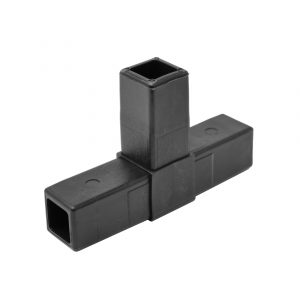 """200-304-HF 3-Way Black """"T"""" Connector, Hammer Fit"""
