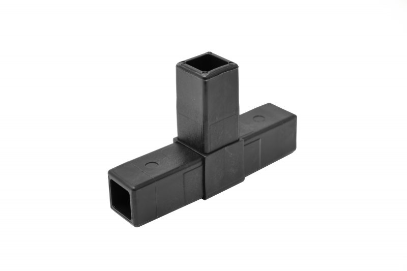 "200-304-HF 3-Way Black ""T"" Connector, Hammer Fit"