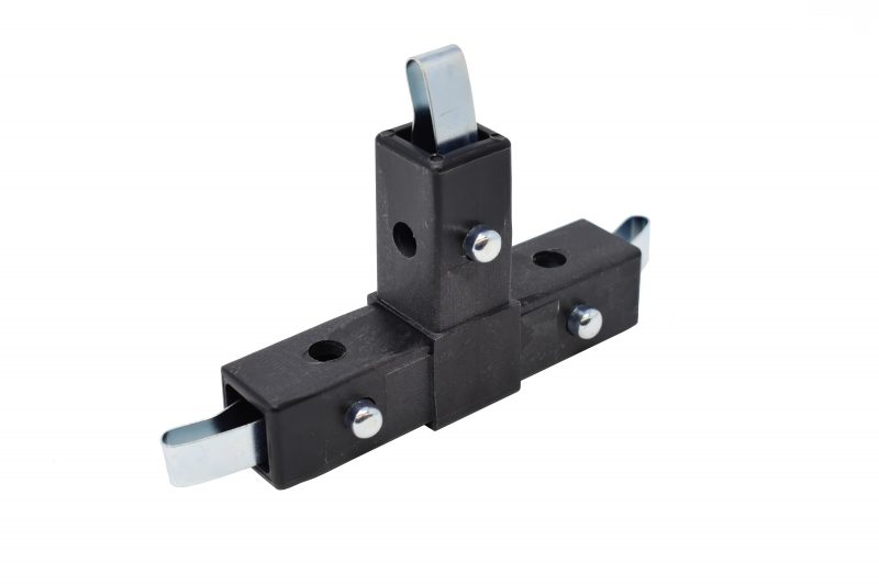 "200-304-QR 3-Way Black ""T"" Connector, Quick-Release"