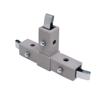 """200-305-QR 3-Way Gray """"T"""" Connector, Quick Release"""