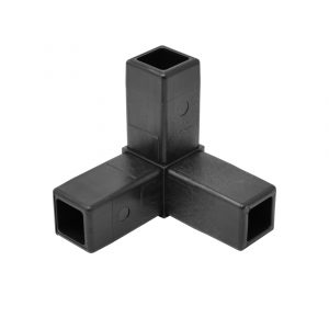 200-308-HF 3-Way Black Corner Connector, Hammer Fit