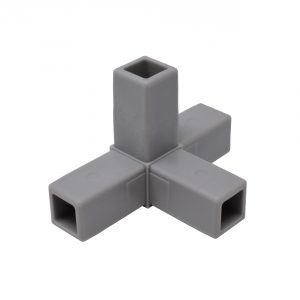 200-317-HF 4-Way Gray Connector, Hammer Fit