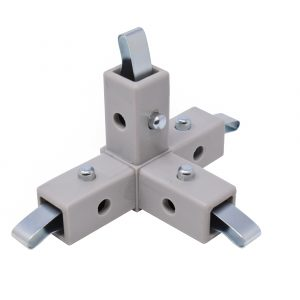 200-317-QR 4-Way Gray Connector, Quick-Release