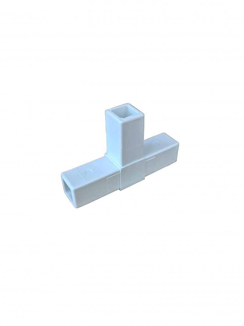 """200-304-HF White Composite """"T"""" Connector"""