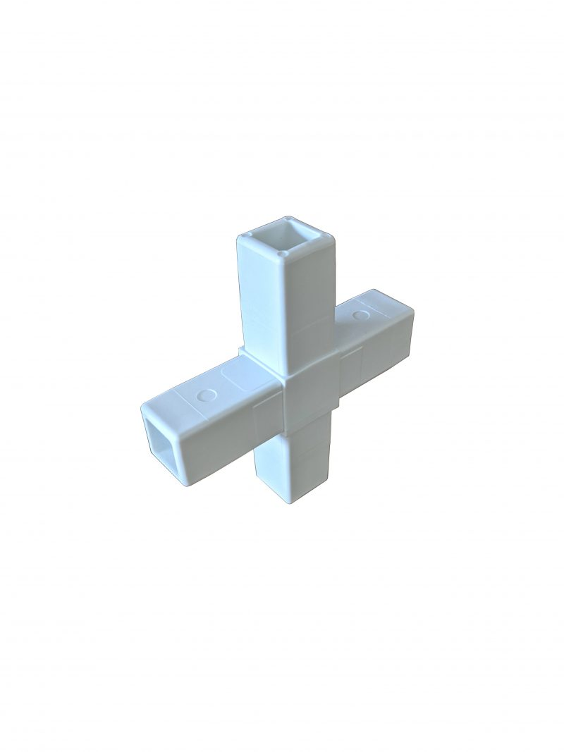 200-312-HF 4-Way White Composite Cross Connector